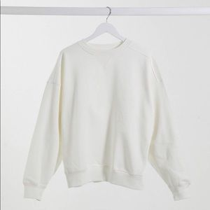 ASOS - super oversized cocoon sweatshirt with panel detail in winter white